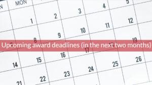 award deadlines